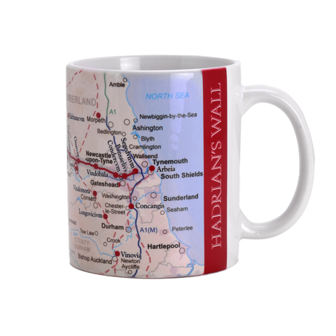 Hadrian's Wall Map Mug