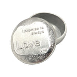 I Love You Small Pewter Box