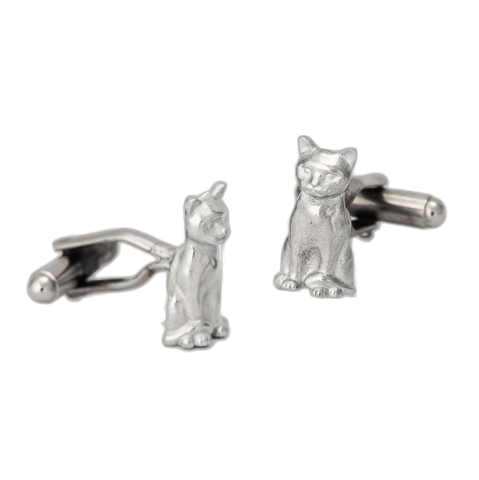 Pewter Cat Cufflinks