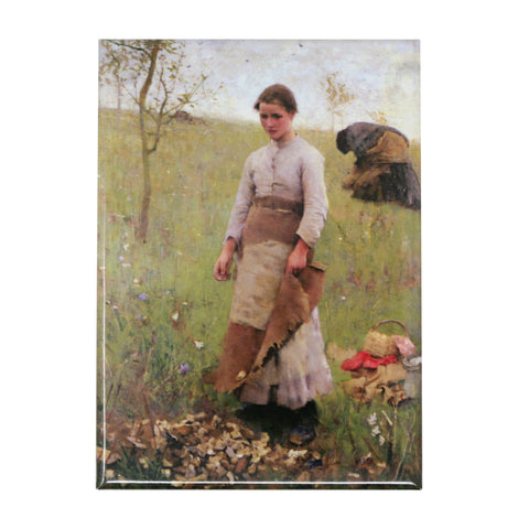 The Stone Pickers by George Clausen Magnet