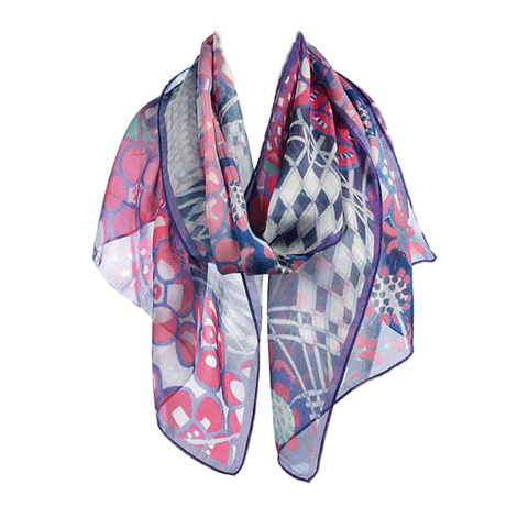 Tobacco Flower by Mackintosh Chiffon Silk Scarf