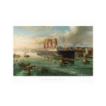 Mauretania Leaves the Tyne Print