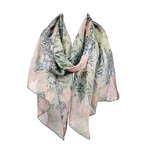 Honeysuckle by Morris & Co Chiffon Silk Scarf