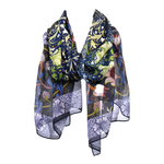 Seaweed by Morris & Co Chiffon Silk Scarf