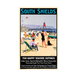 South Shields Railway Poster Mini Print