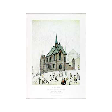 Old Chapel by LS Lowry Print