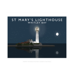 St Mary's Lighthouse by Richard O'Neill Print