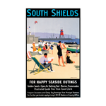 South Shields Railway Poster Tea Towel