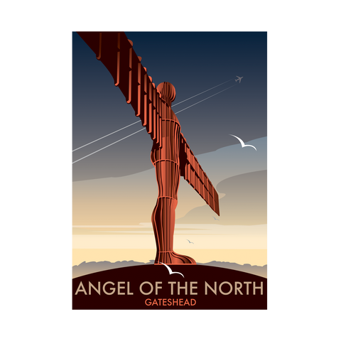 Angel of the North by Dave Thompson Tea Towel