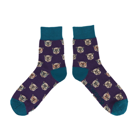 Westie Men's Socks, Purple
