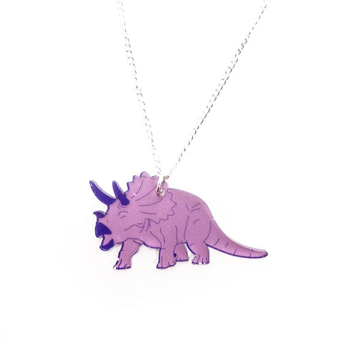 Triceratops Acyrlic Necklace