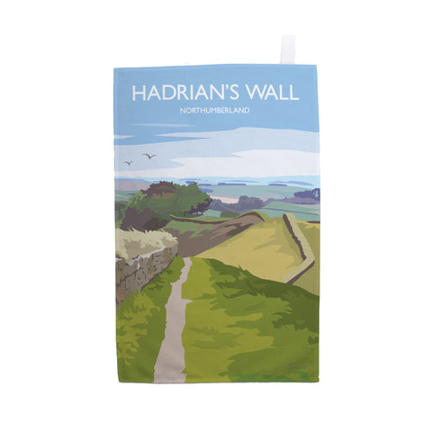 Hadrian's Wall by Julia S Illustration Tea Towel