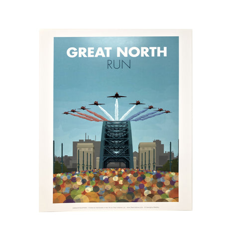 Great North Run by Georgina Westley Print