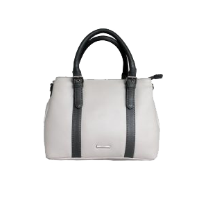 Dove and Grey Leather Handbag