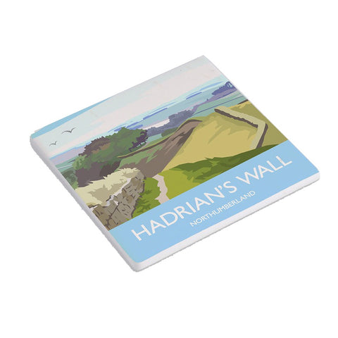 Hadrian's Wall by Julia S ceramic coaster