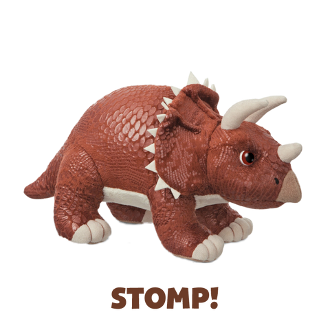 Dinosaur Stomp! the Triceratops Soft Toy