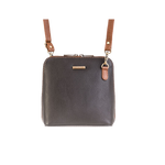 Black and Chestnut Small Leather Bag