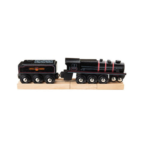 Bigjigs Wooden Black 5 Engine with Tender