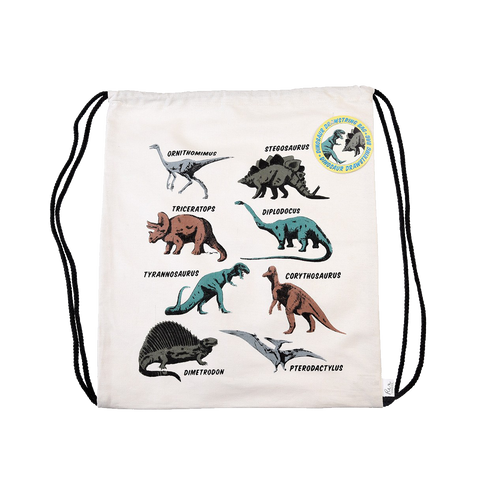 Dinosaur Drawstring Bag