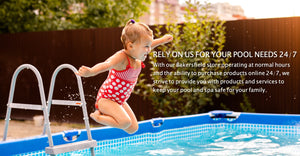 Kid jumping into pool - Poolside Pool Supply