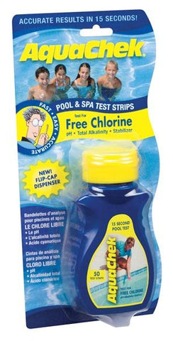 CHLORINE TEST STRIPS YELLOW