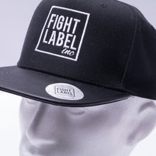 Load image into Gallery viewer, CLASSIC BLACK LEATHER SNAPBACK CAP
