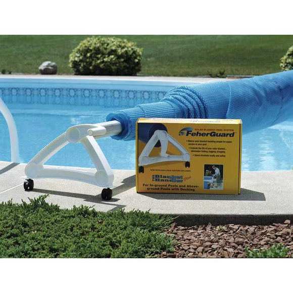 Feherguard Solar Cover Roller Reel System, Blanket Handler Base with Tube, 20 ft