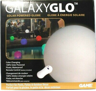 Large Solar-Powered 5 Color Changing Globe with Remote