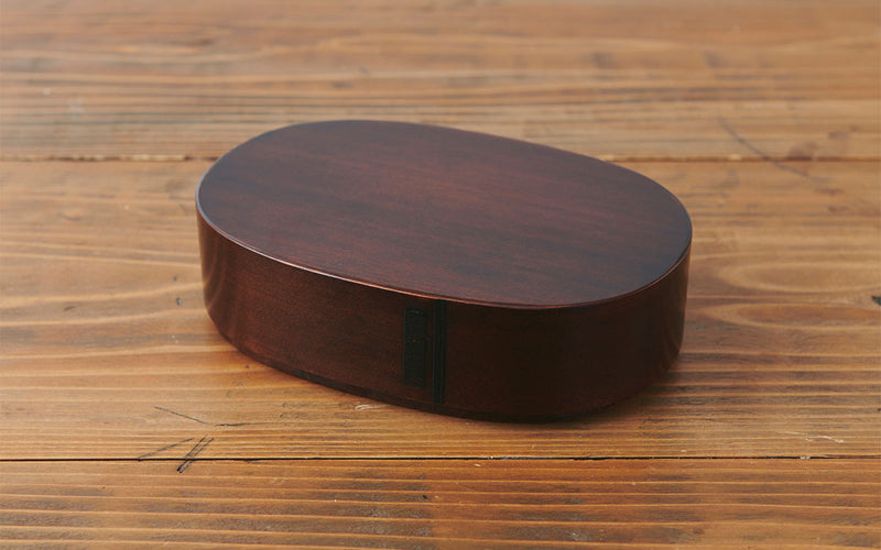 Wipe lacquer bent wappa oval bento box size | Pint!