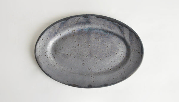 Oval Plate S 24cm ASH | ONE KILN