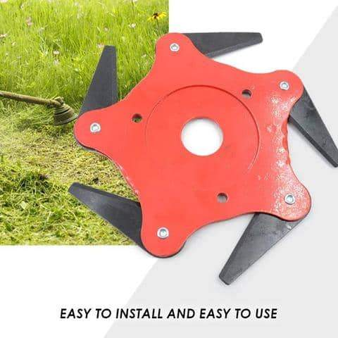 Universal 6-Steel Blades Trimmer Head (For Trimmer or Weed Eater)