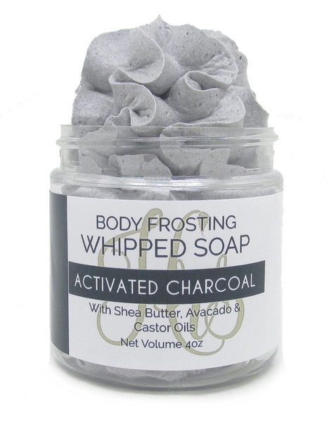 Activated Charcoal Fluffy Whipped Soap Body Frosting