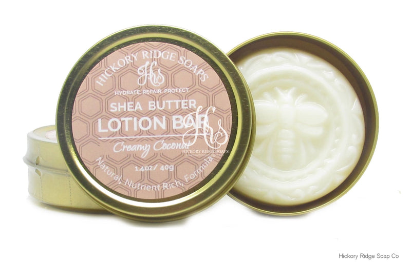Creamy Coconut Shea Butter Lotion Bar Hard