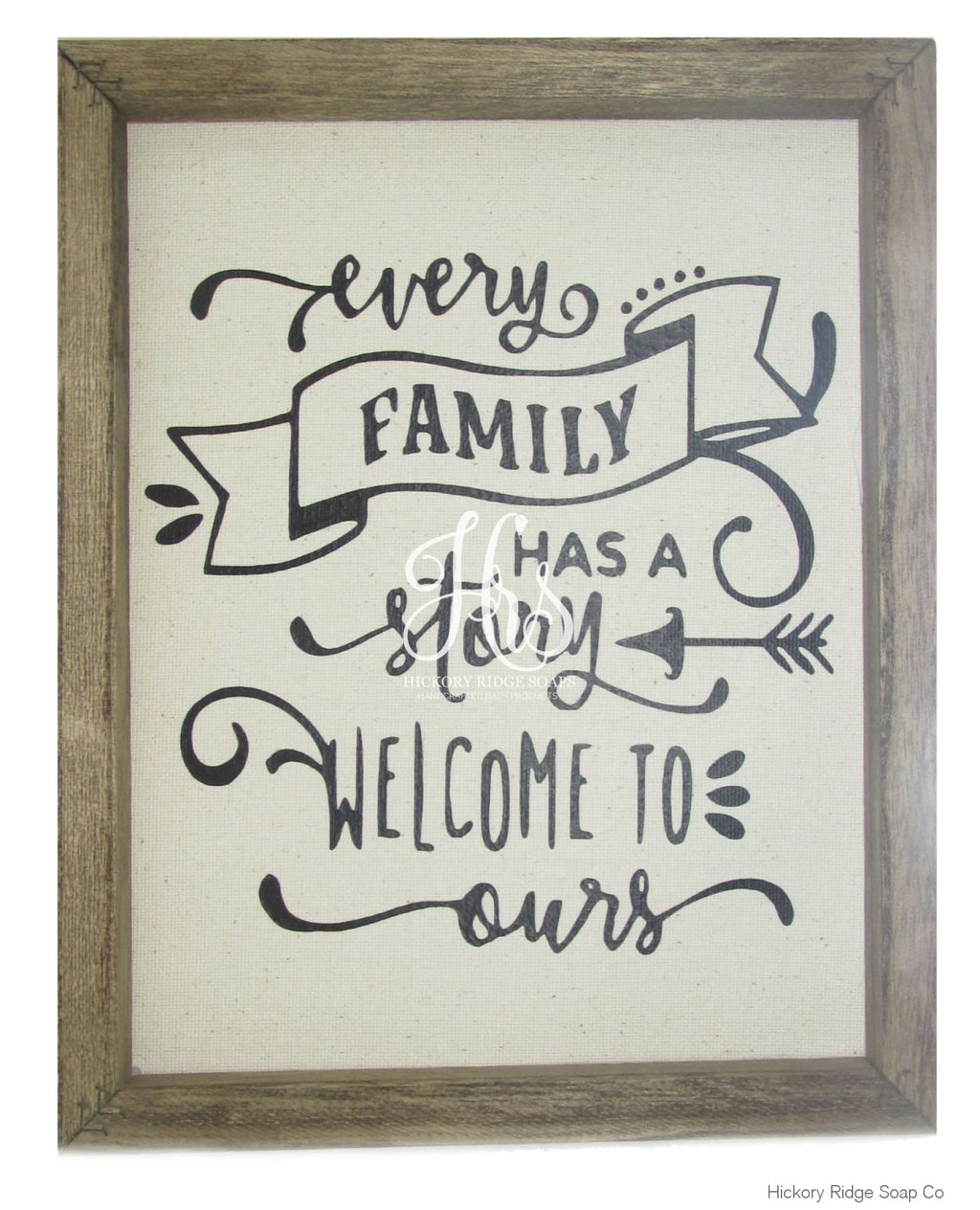 Every Family Has A Story Canvas Sign Sign