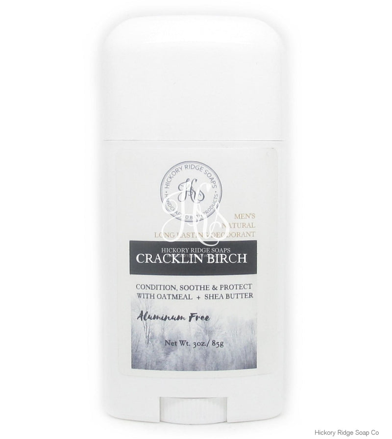 Mens Natural Aluminum Free Cracklin Birch Deodorant Deodorant