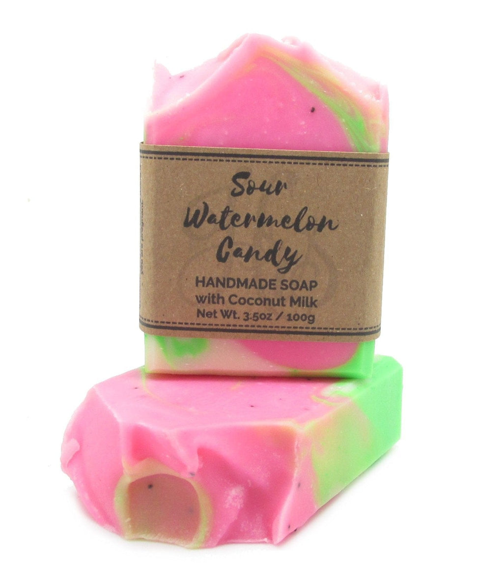 Sour Watermelon Candy Coconut Milk Soap