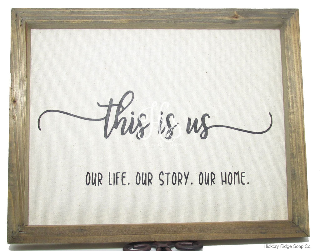 This Is Us Canvas Sign