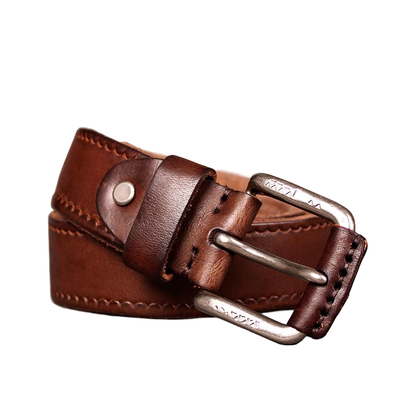 Midland Stitched Original Cowhide Leather Belt