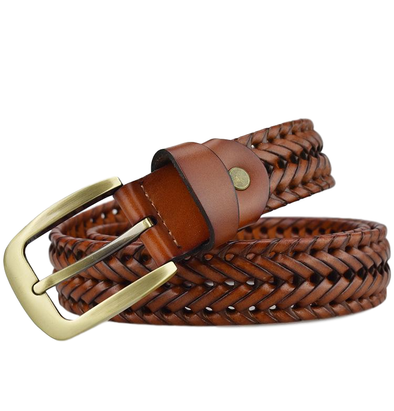 Birchwood Braided Leather Belt