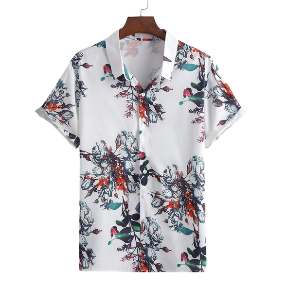 Colored Floral Button Up