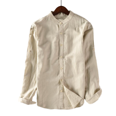 Birchwood Linen Full-Button Henley