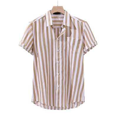 Osier Summer Striped Button Up