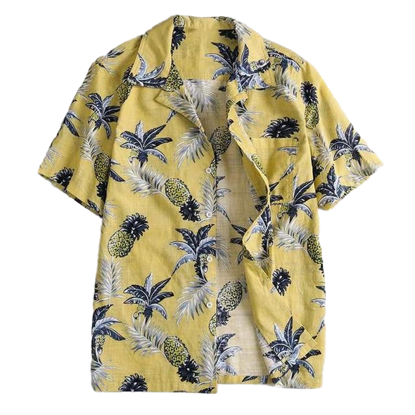 Pineapple Short Sleeve Button Up