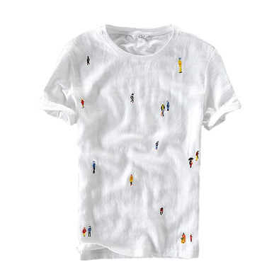 Embroidery Figures Tee