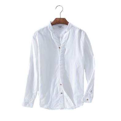 Birchwood Linen Loose-Collar Button Up