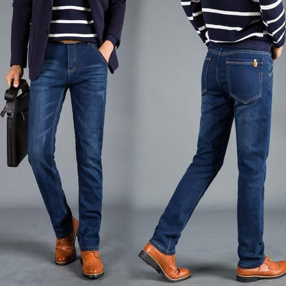 Sherpa-Lined Jeans - Straight