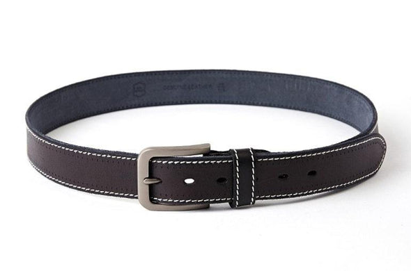 Rockland Stitched Original Cowhide Leather Belt