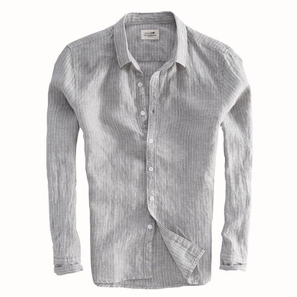 Birchwood Classics Linen Collared Button Up