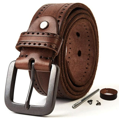Midland Perforated Original Cowhide Leather Belt