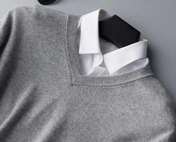 Hawthorne Cashmere V-Neck Sweater